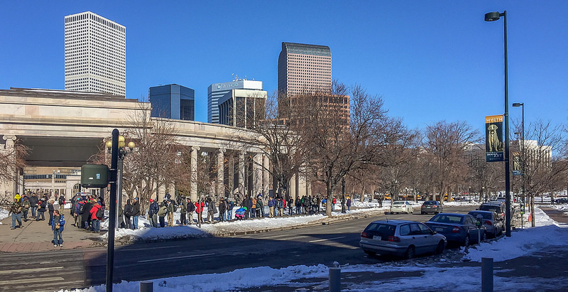 Colorado Homeless Line for Food Stamp