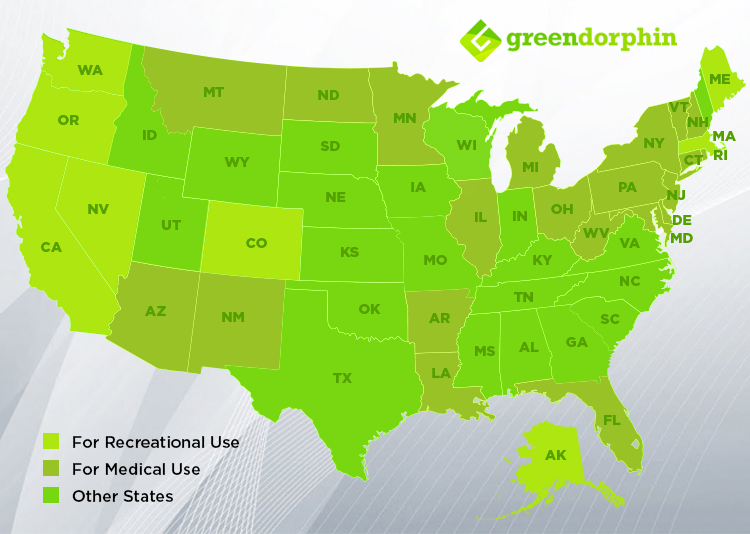 U.S. states with legalized medical use