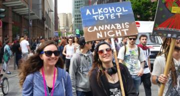 Global Marijuana March Makes A Splash In Frankfurt