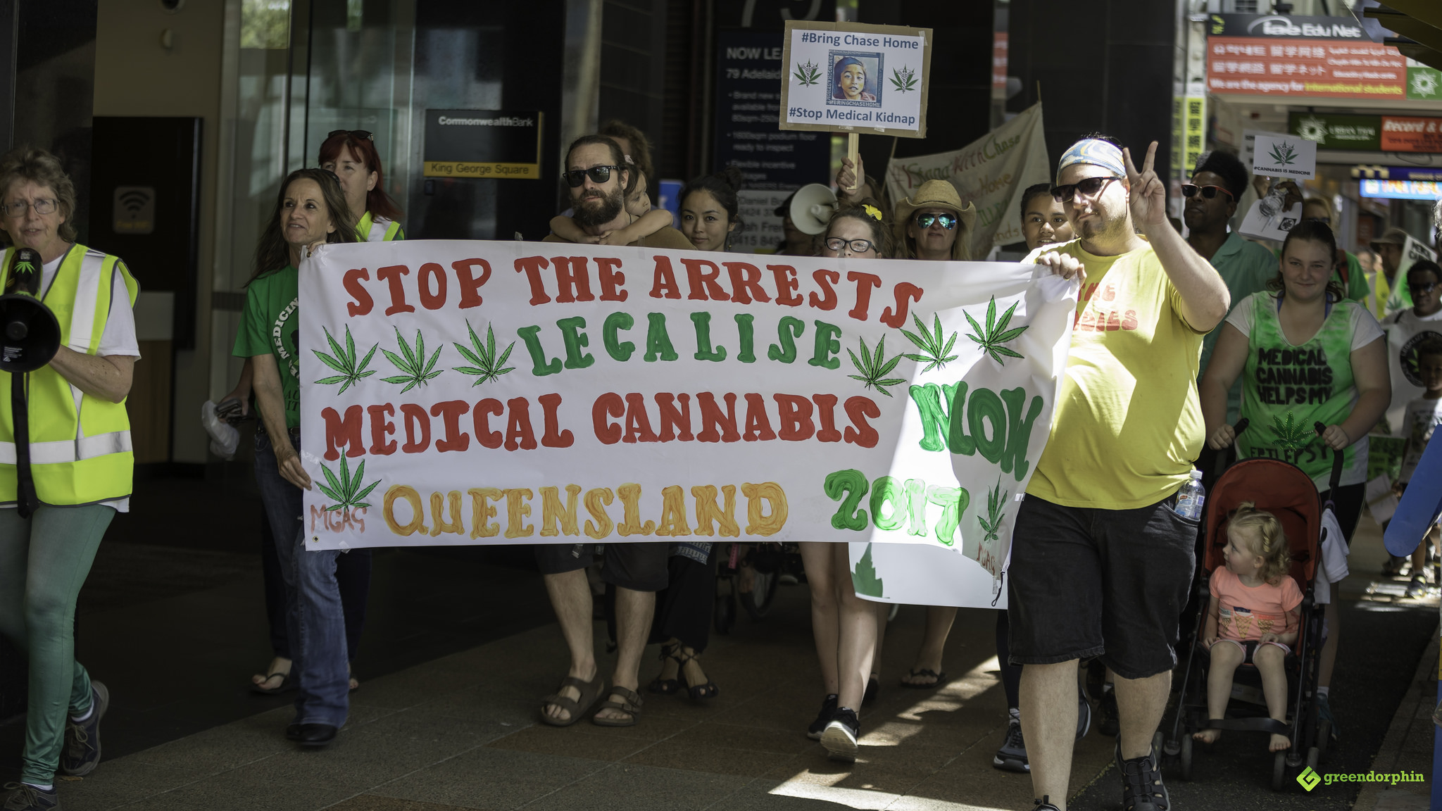 Medical Cannabis Law Reform Rally and March - Brisbane Australia