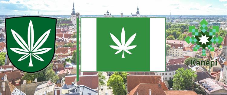 Cannabis Leaf Flag - Estonia