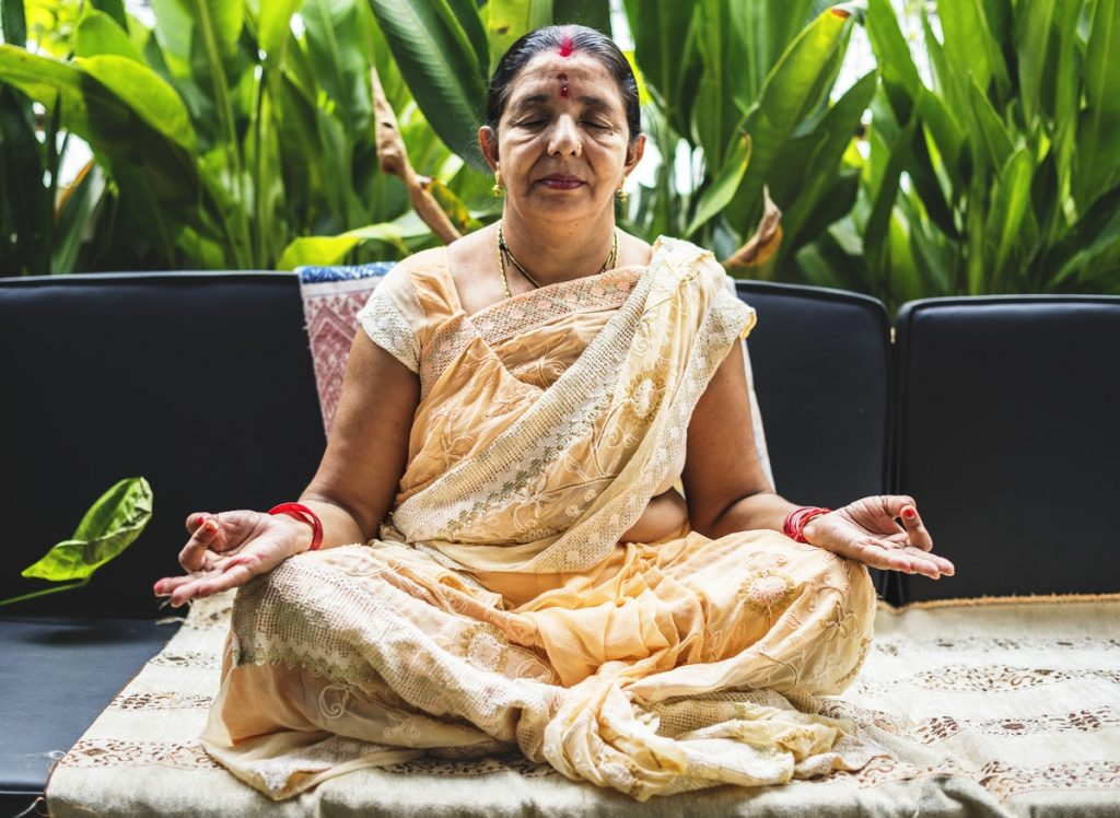 Indian Women meditating
