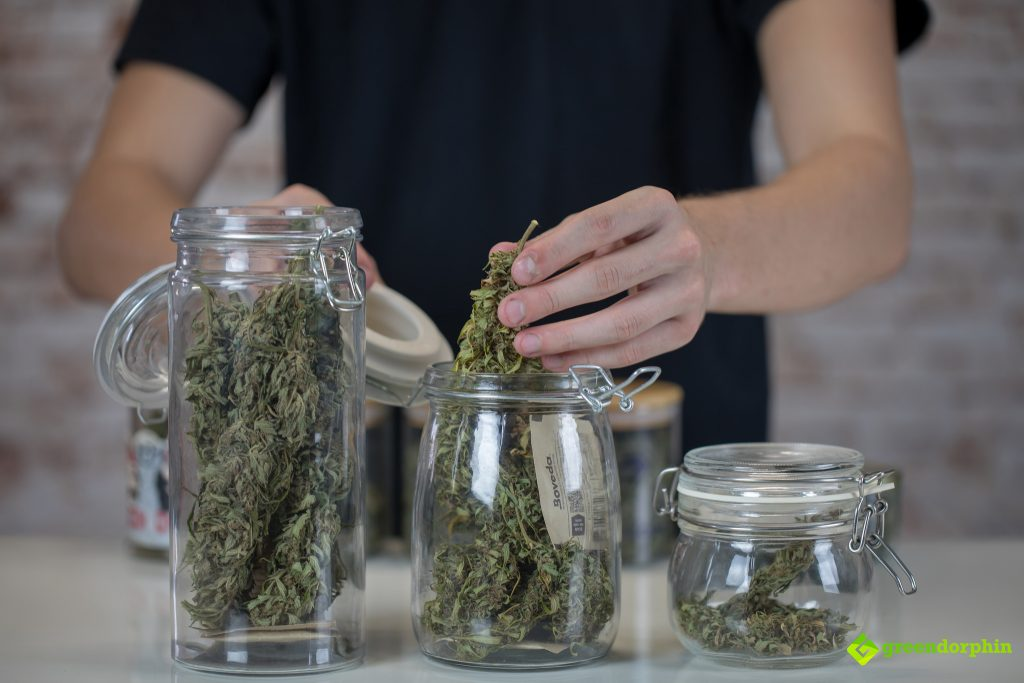 store your cannabis in mason jars